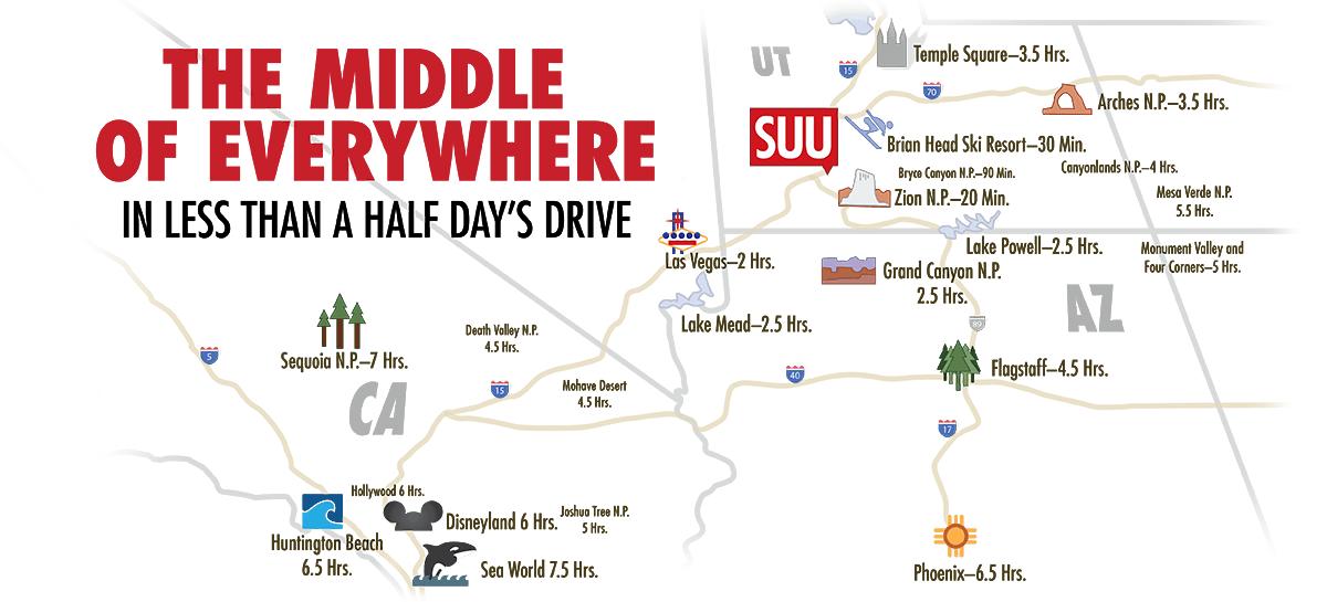 southern utah university campus map Experience College Life In Utah Campus Activities Suu