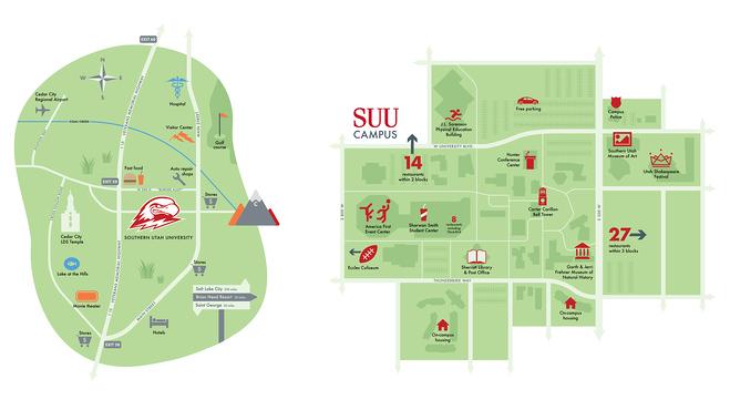 southern utah university campus map Cedar City Resource Guide Suu