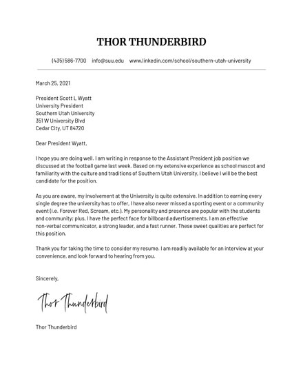 How To Write A Cover Letter For An Application Suu