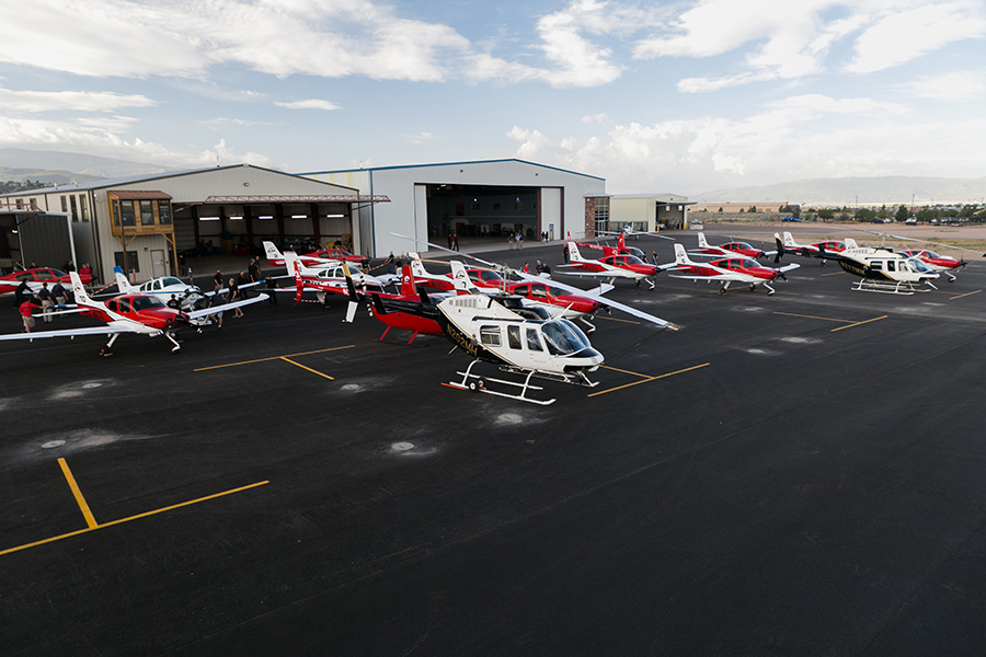 First Experiences at a Helicopter Pilot Flight School   SUU