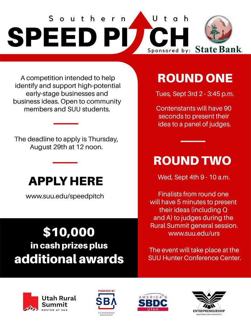 Southern Utah Speed Pitch | School of Business | SUU
