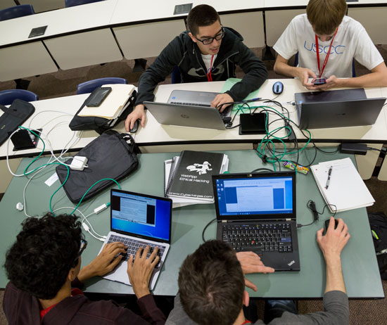 cyber security students hacking competition