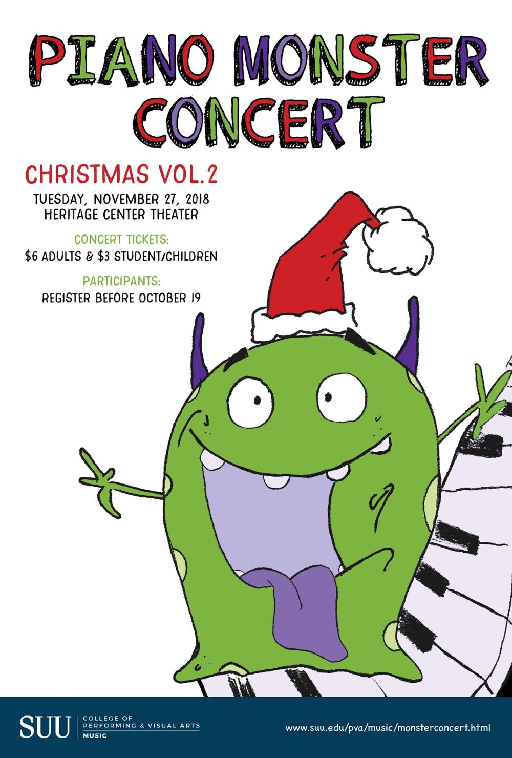 SUU's Piano Concert event flyer